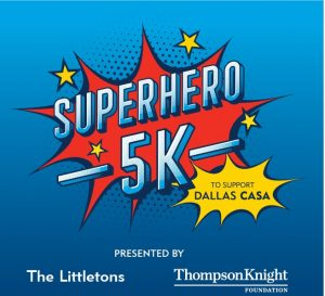 This is an image of the Dallas CASA Superhero 5K logo