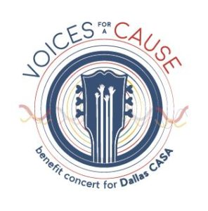 This is a photo of the Voices for a Cause logo