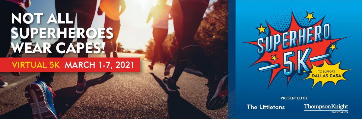 This is an image of the Dallas CASA YP 5K web banner