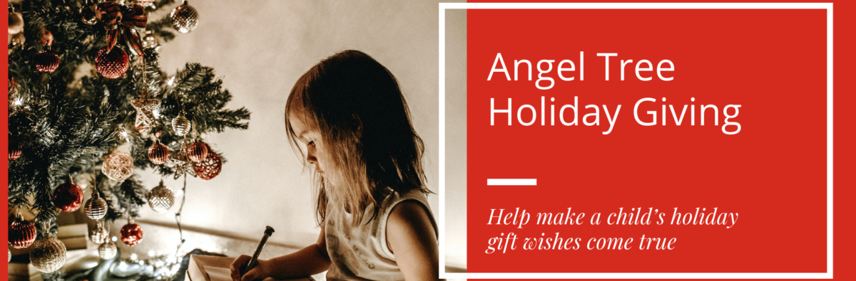 This is an image of the Angel Tree gift card webpage banner
