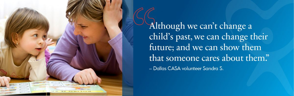 This is an image of a Dallas CASA web banner