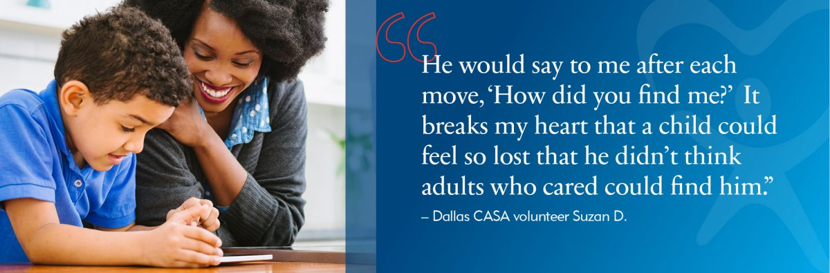 This is an image of the Dallas CASA web banner